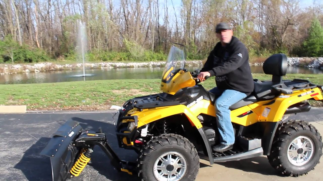 Can Am Atv Snow Plow Overview Youtube