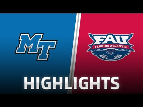 Highlights: Middle Tennessee at FAU