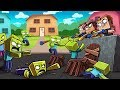 Minecraft - NERF WAR ZOMBIE CHALLENGE: Deadly Nerf GUNS! (Zombies vs House)
