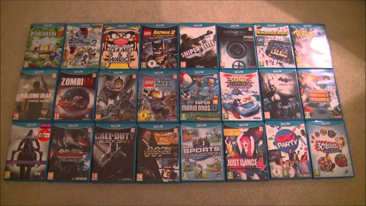 Current Nintendo Wii U Game Collection 24 Games Including Pikmin 3     Current Nintendo Wii U Game Collection 24 Games Including Pikmin 3