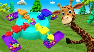 Kids Learning Videos - Lean Numbers for Children with Color Balls Frog Toy Cartoon Babies & Animals