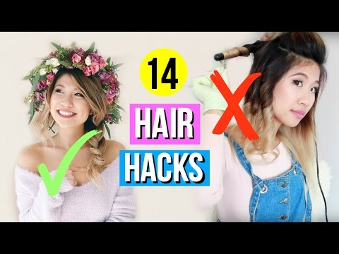14 Hair Hacks EVERY Girl Must Know!