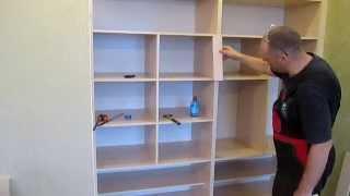 Сборка встроенного шкафа,описание для чайников,часть3