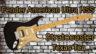 Unboxing the New Fender American Ultra Stratocaster HSS Texas Tea