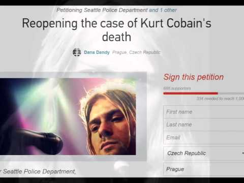 """Justice for Kurt Cobain"" - Reopening the case of Kurt Cobain's death!"