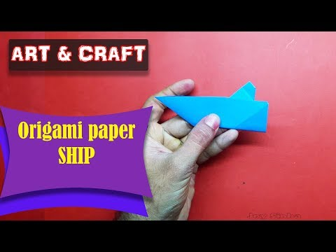 DIY  How to make an origami paper Ship || Art & Craft || Open Mind 🎊