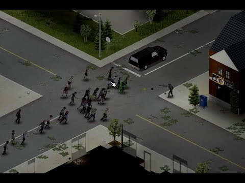 """Project Zomboid - Having fun with M240 Machine Gun from """"Brita's Weapon Pack"""" mod 