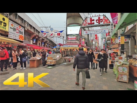 Walking around Ueno, Tokyo - Long Take【東京・上野】 4K