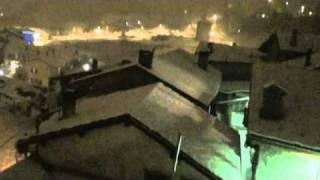 Nevicata notturna a Sarre (AO)