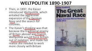 Outline of Origins of WW1 (3-Weltpolitik