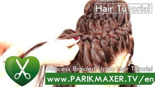 Princess Braided Updo Hair Tutorial parikmaxer tv english version