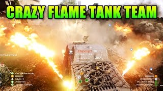 Burn Them ALL!!! Flame Tank | Battlefield 1 Squad Up Gameplay