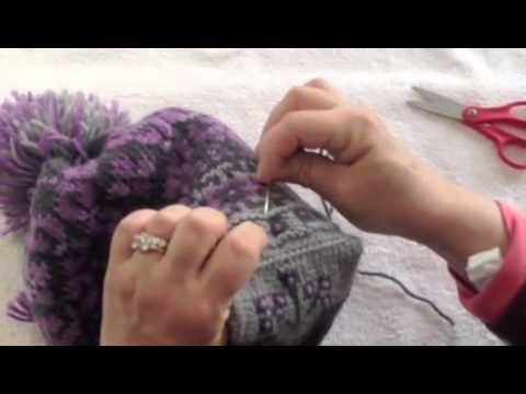 Lining a Knit Hat with Fleece - YouTube 9921d274ca8