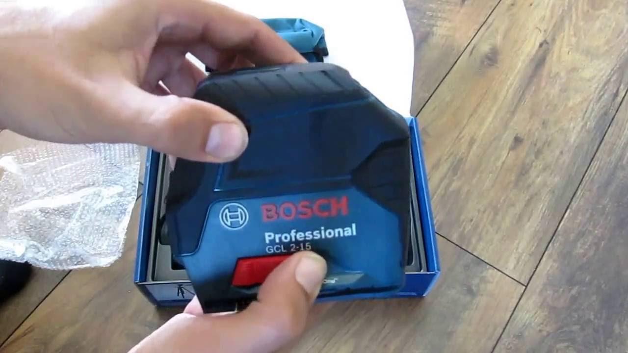 unpacking / unboxing combi line laser bosch gcl 2-15 0601066e00