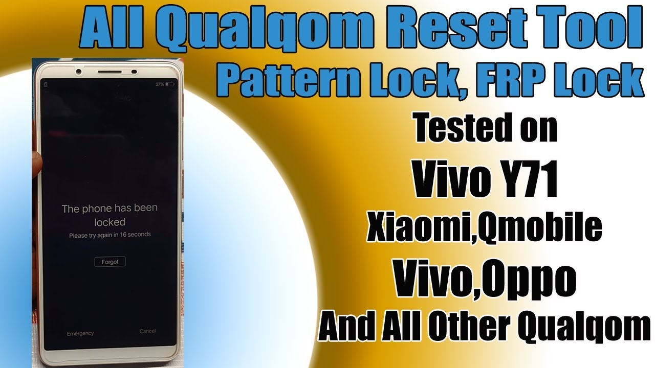 VIVO Y71 ( VIVO 1801) Hard Reset Remove Pattern, FRP Lock
