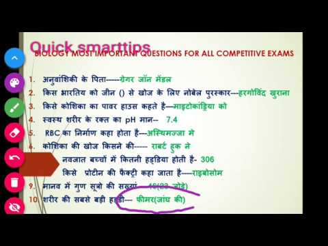 Biology most important  previous year questions for railways group D exam