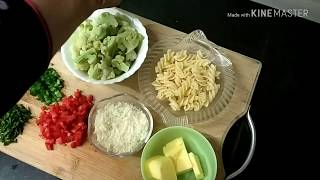 21-Baked cauliflower with macaroni (Hindi/English/Urdu)