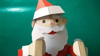 automaton - papercraft - dancing Santa Claus (Canon Papercraft) - dutchpapergirl
