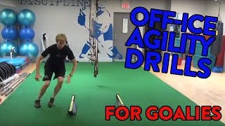 Off-Ice Goalie Agility Drills - lateral speed