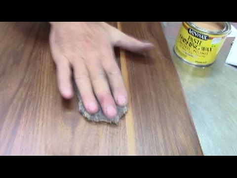 Best way to refinish wood furniture in 60 minutes, polished with wax and steel wool