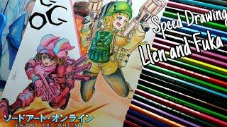 Drawing Llen/ Fuka - Sword Art Online Alternative (Speed Drawing)