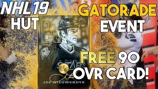 NHL 19 HUT | FREE 90 OVR JOE NIEUWENDYK! Gatorade October Event Details!