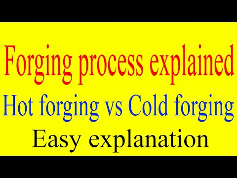 What is forging? Cold forging vs Hot forging explained | Forging applications | Forging process