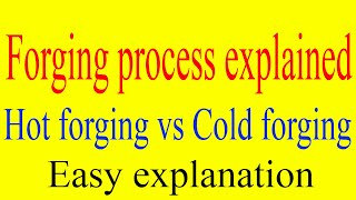 What is forging? Cold forging vs Hot forging explained | Forging applications | Forging process