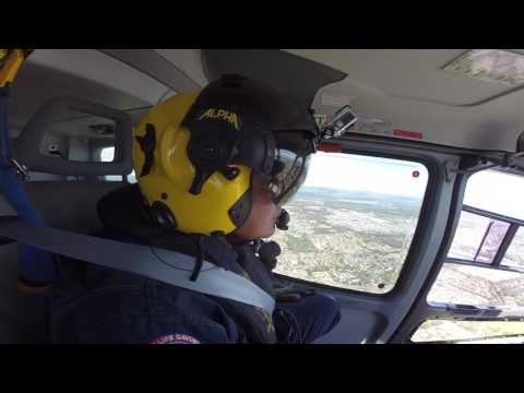 Lifesaver helicopter ride along