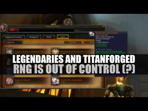 Legendaries, RNG and you: problematic for some, not for all!