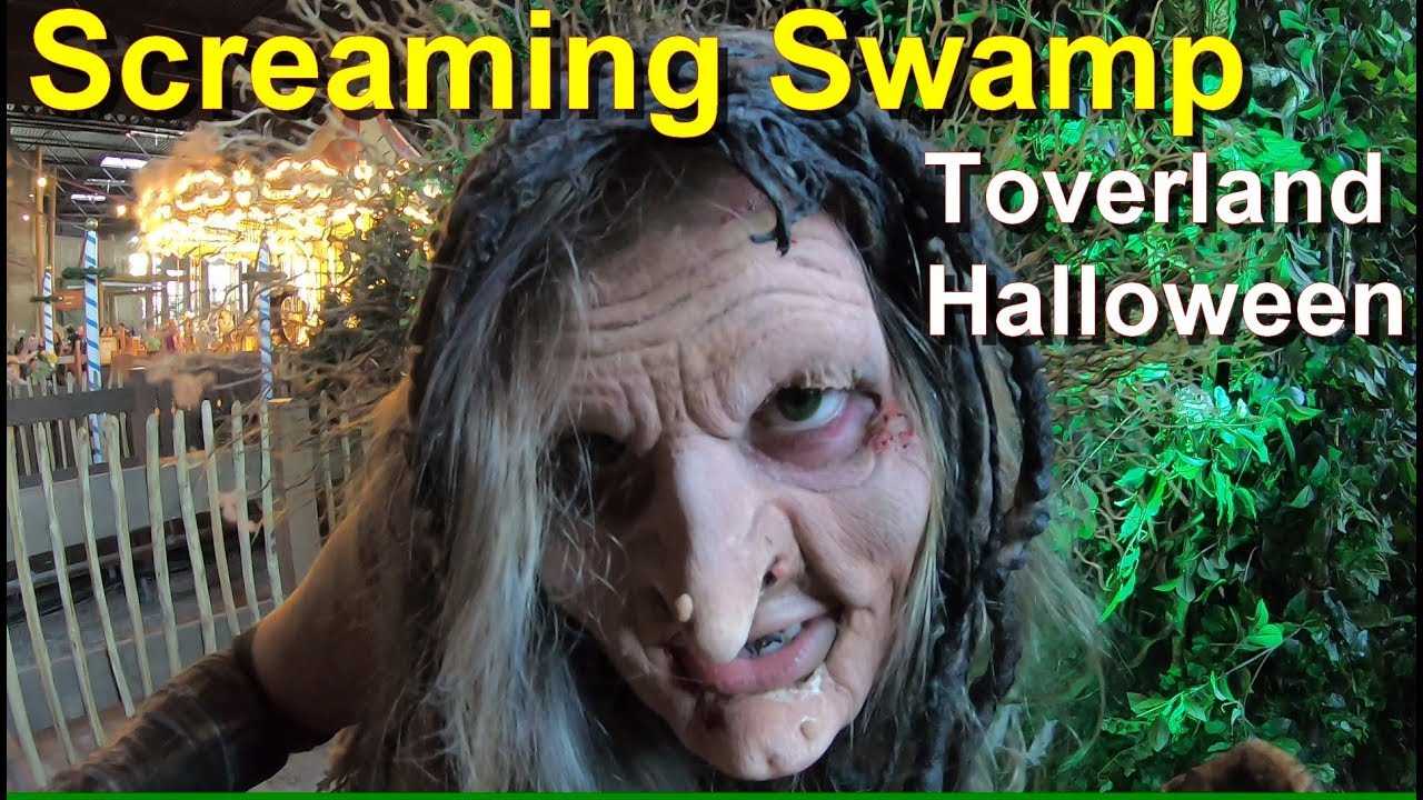 Halloween Toverland 2019.Halloween Nights 2018 Screaming Swamp Maze Onride Pov Walkthrough Toverland Halloween