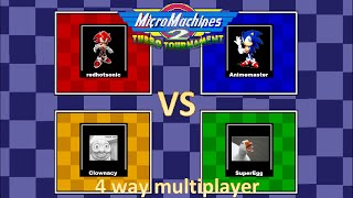 Micro Machines 2 Turbo Tournament Multiplayer mayhem - Mega Drive 4 player netplay!