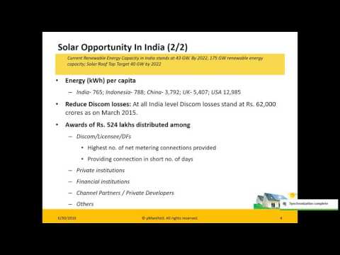 Webinar: Building a Financial Model for Grid Scale/Rooftop Solar Project