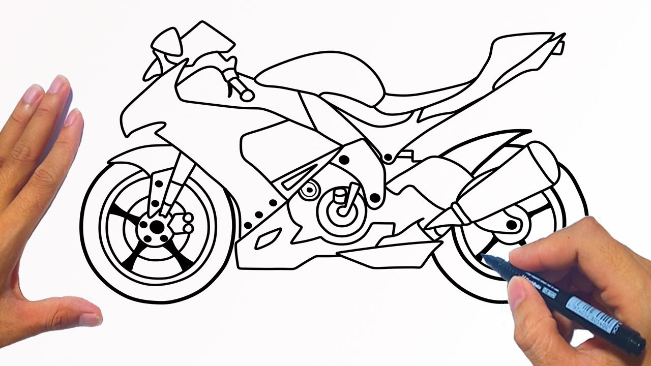 How To Draw A Motorcycle Racing Bike Jelly Colors Art Youtube