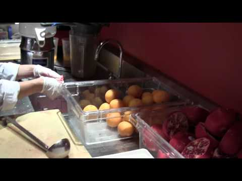 Rouge Tomate's in-house juice bar in New York City