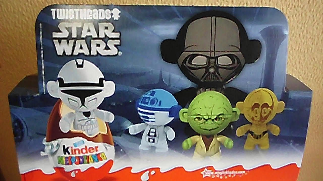 12 Kinder Surprise Eggs Star Wars Twistheads European Toys