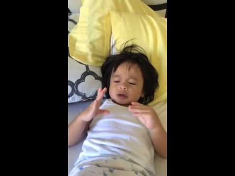 2 year old imitating Ryan Rem's Rock and Roll!! Alright ...