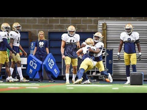 Practice highlights: Notre Dame gets back to work