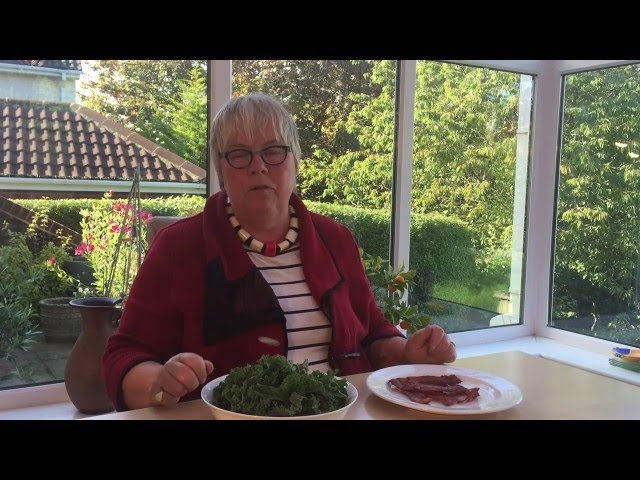 Video about cooking Kale with Bacon