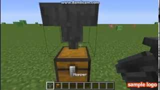 Minecraft // How connect Hopper and chest -3 ways-