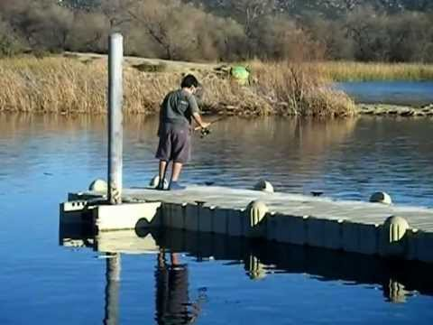 Fishing at lake skinner california with randy and matthew for Lake skinner fishing report
