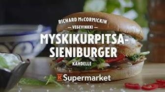 Richard McCormickin Myskikurpitsa-sieniburger vegevinkki