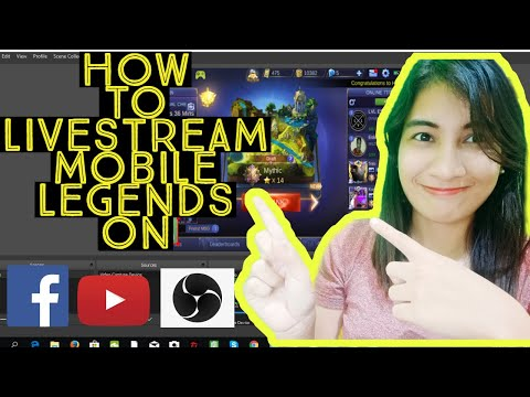 EASY TUTORIAL ON HOW TO LIVESTREAM MOBILE LEGENDS ON FB AND YOUTUBE With FACECAM!