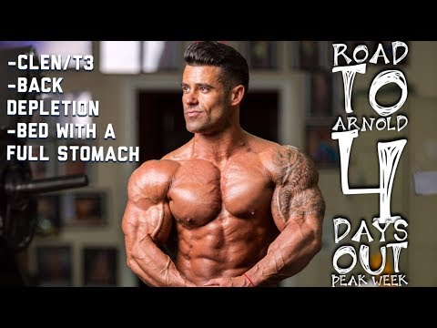 SANTI ARAGON   ROAD TO ARNOLD   4 DAYS OUT   CLEN/T3   BACK DEPLETION   BED W/ FULL STOMACH