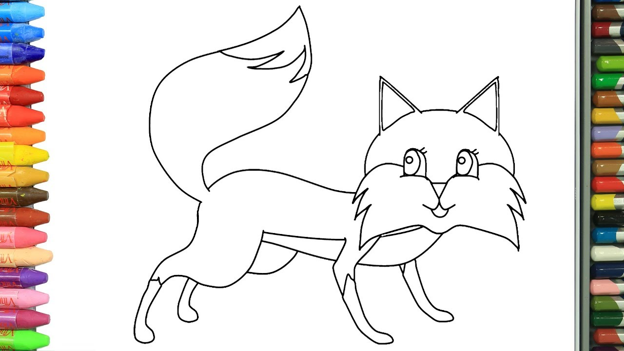 الرسم والتلوين للأطفال كيفية رسم ثعلب الرسم للأطفال الأطفال