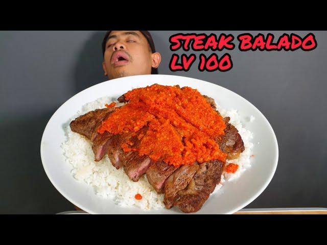 GILA!! MUKBANG STEAK BALADO LV 100 ALA TANBOY KUN