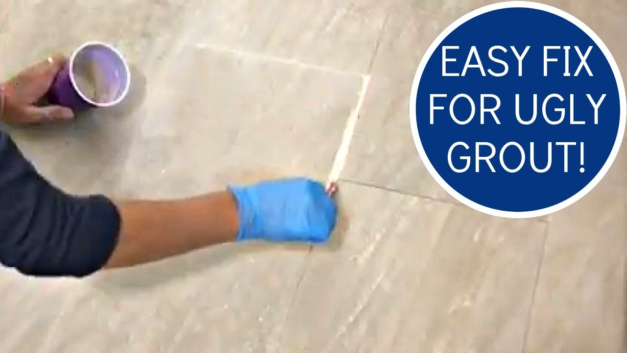 How To Whiten Tile Grout Or Change Color Easy Diy You