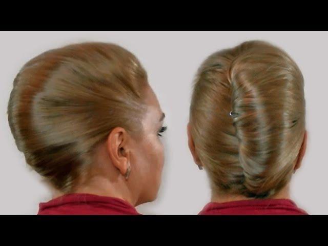 Zhenskaya Pricheska Rakushka Svoimi Rukami Video 2013 Goda French Twist Hairstyle Tutorial Youtube