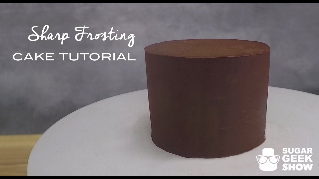 How To Get Sharp Ganache Edges On Your Cakes Tutorial Youtube