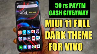 MIUI 11 FULL DARKNESS THEME FOR ANY VIVO MOBILE